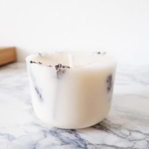 Bougie parfumée bio Lavande & Bois de Hô 150ml - Ponoie Bougie Bio