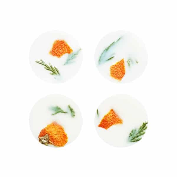 Pastilles parfumées Orange & Cyprès bougie vegan bio