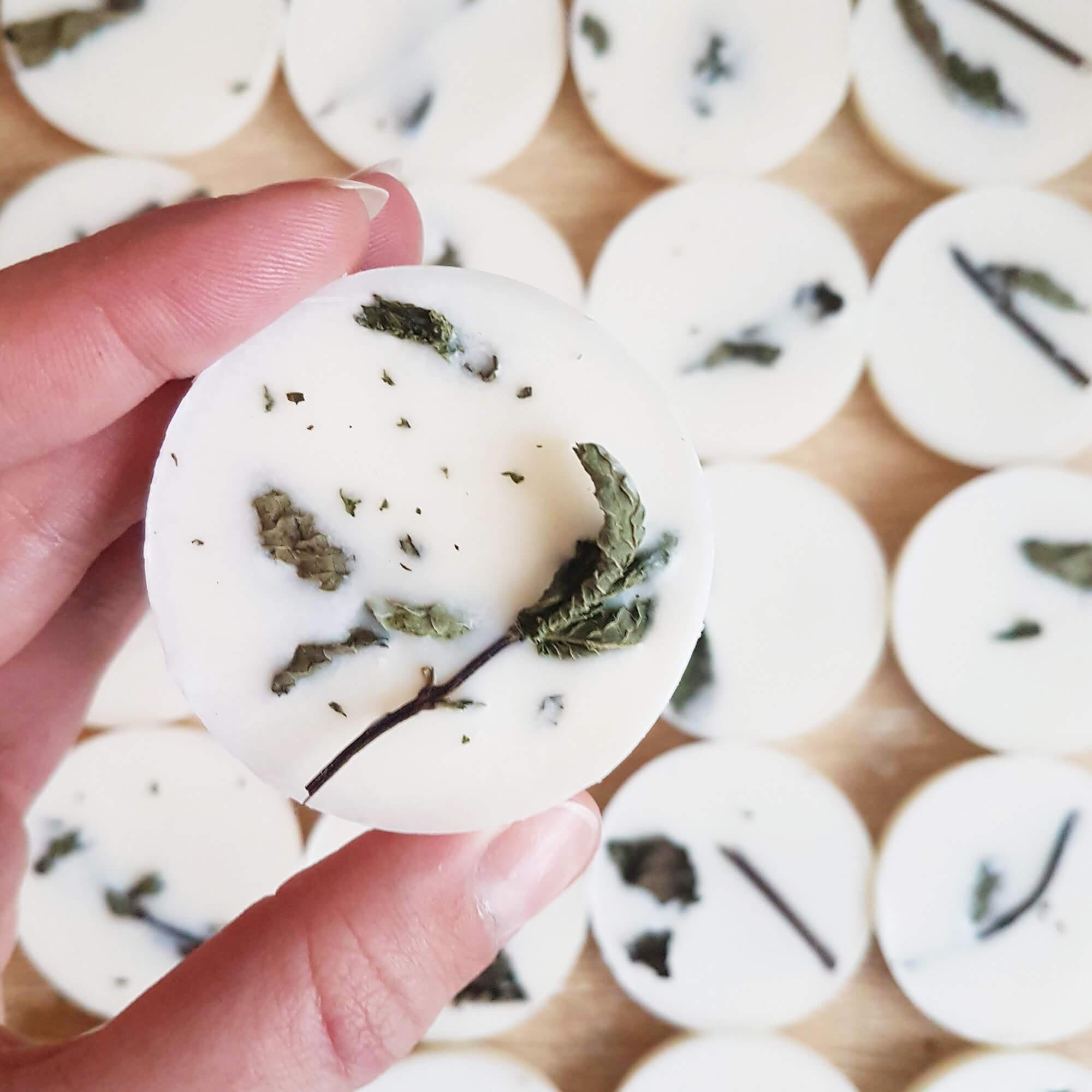 Pastilles parfumées bio Eucalyptus & Menthe Poivrée - Bougie bio Ponoie
