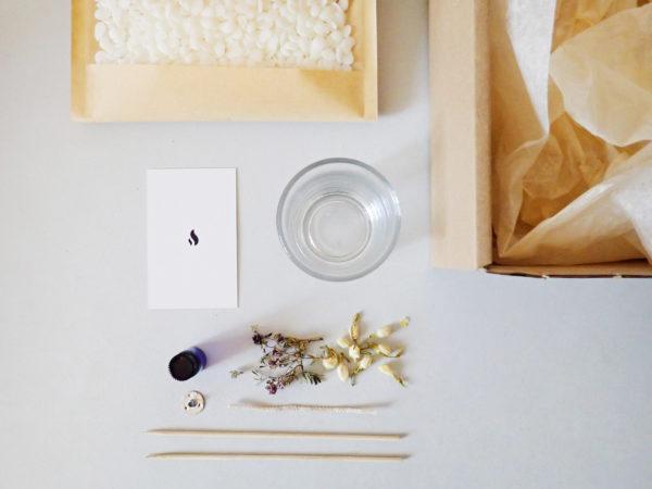 Bougie florale DIY - bougie bio paris - Kit bougie DIY