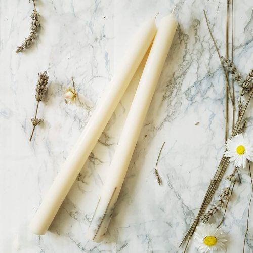 cierge-1Cierge en cire de soja 30 x 2,5cm - cierge mariage naturel - cierge table mariée - cierge naturel pour mariage