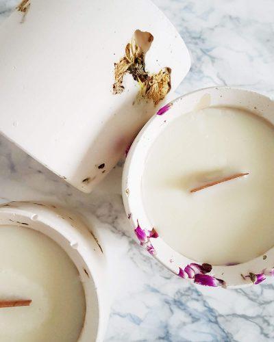 bougie fleurie paris - bougie vegan parfumée bio