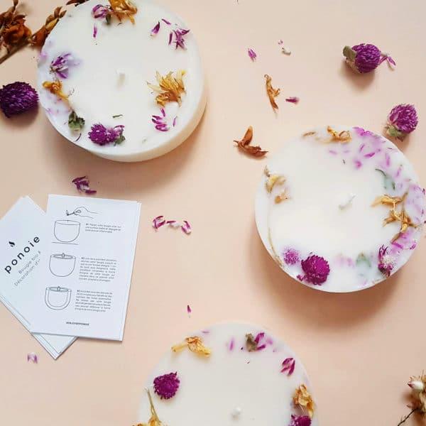 Bougie fleurie Printemps à Kyoto 150 ml - Bougie sans allergènes PONOIE