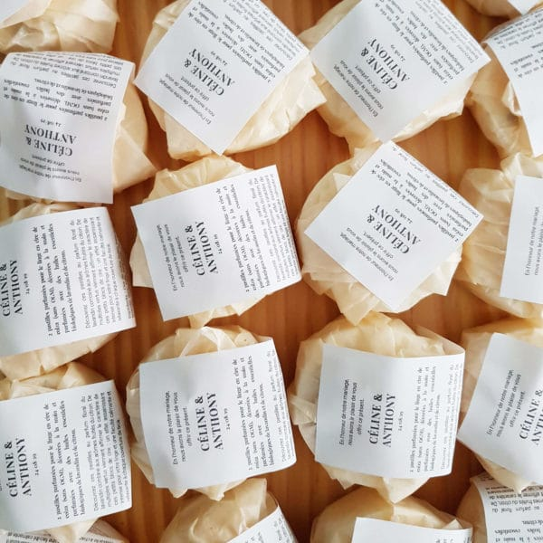 Pastilles parfumées aux huiles essentielles - Cadeaux invités mariage BIO