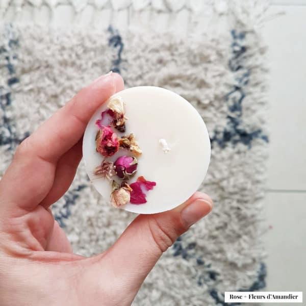 Bougie fleurie pour invités de mon mariage - Bougie de mariage PARIS