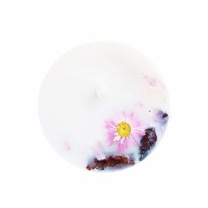 Bougie huiles essentielles bio Palmarosa x Arbre à thé - Bougie fleurie