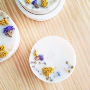 Bougie huiles essentielles bio Géranium x Lavandin 150 ml - Bougie fleurie