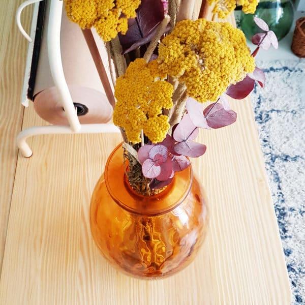 Vase Dame Jeanne Ovale jaune 36 x 23 cm - Bonbonne Dame Jeanne