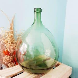 Vase Dame Jeanne vert 38 x 31 cm - Bonbonne Dame Jeanne Paris
