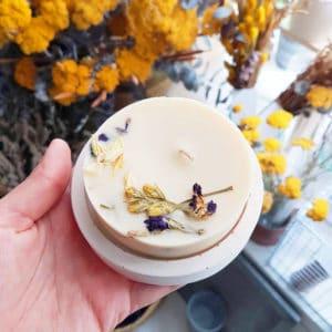 Bougie parfumée bio Jasmin & Bergamote 150ml - Bougie fleurie