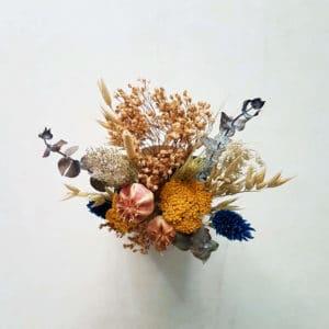 Petit pot de fleurs séchées Phalaris x Nigelle de Damas - Fleurs séchées