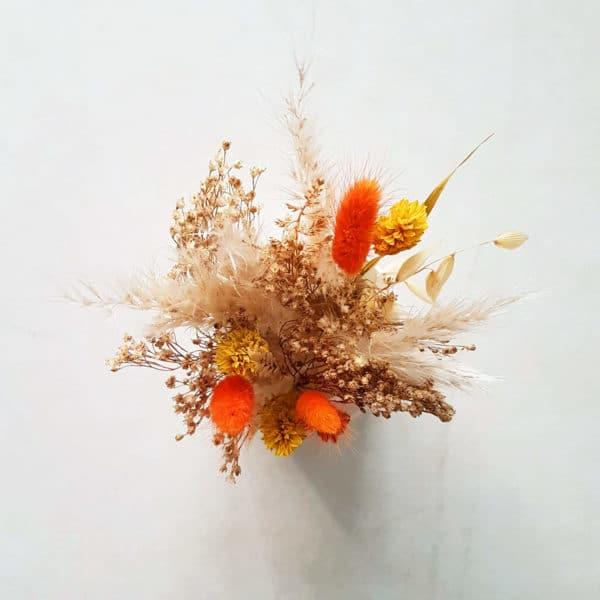 Petit pot de fleurs séchées Pampa x Lagurus - Fleurs séchées française