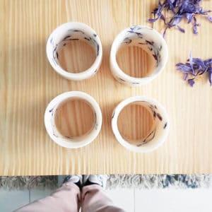Photophore en cire et fleurs de crocus à safran - Photophore végétal