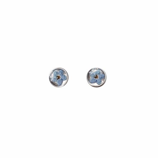 Boucles d'oreilles fleuries LEON - Myosotis - Bijoux fleurs séchées