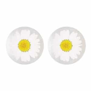 Boucles d'oreilles fleuries ARON - Marguerite - Bijoux fleuris FRANCE