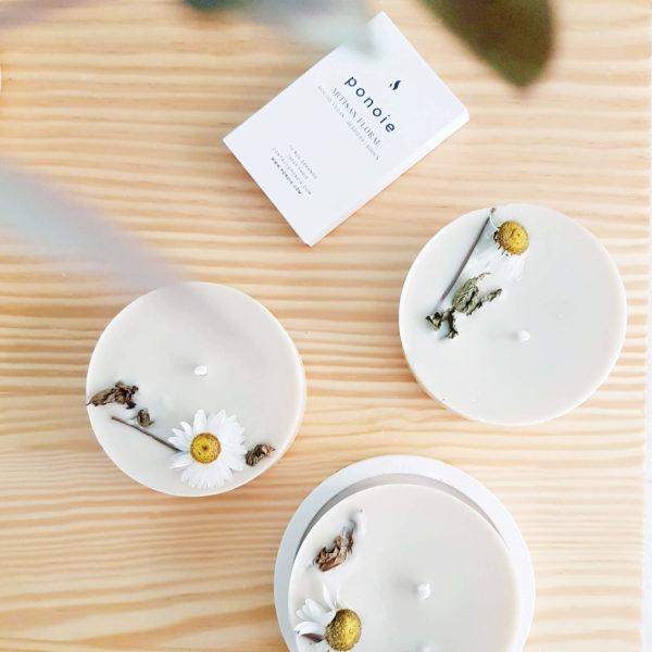 Bougie huiles essentielles bio Menthe poivrée x Lavandin 150 ml - Ponoie