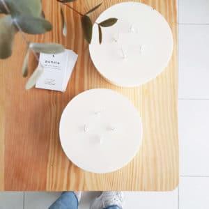 Bougie végétale non parfumée 800 ml - Bougie quatre mèches (vegan)