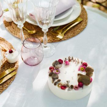 Bougie mariage fleurie et vegan - La Kolibrine Wedding