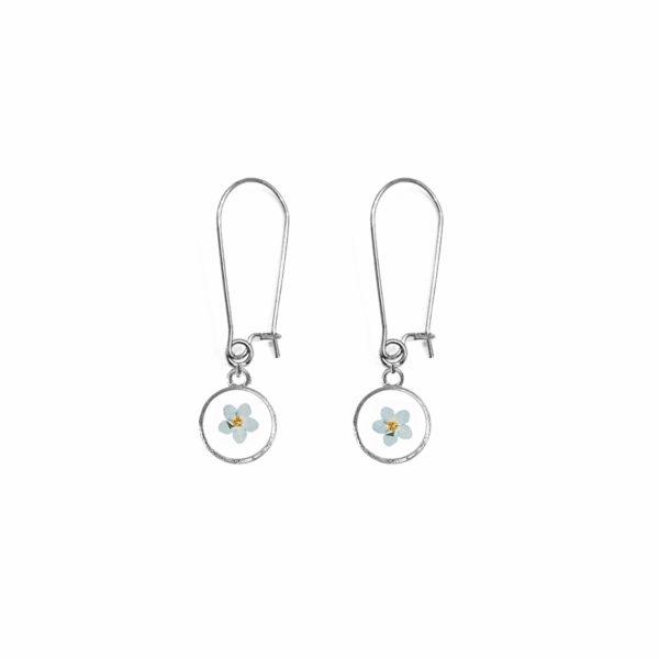 Boucles d'oreilles fleuries ISIDOR ROND - Myosotis