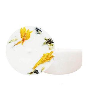 Bougie fleurie Citron & Bois de hô 200 ml