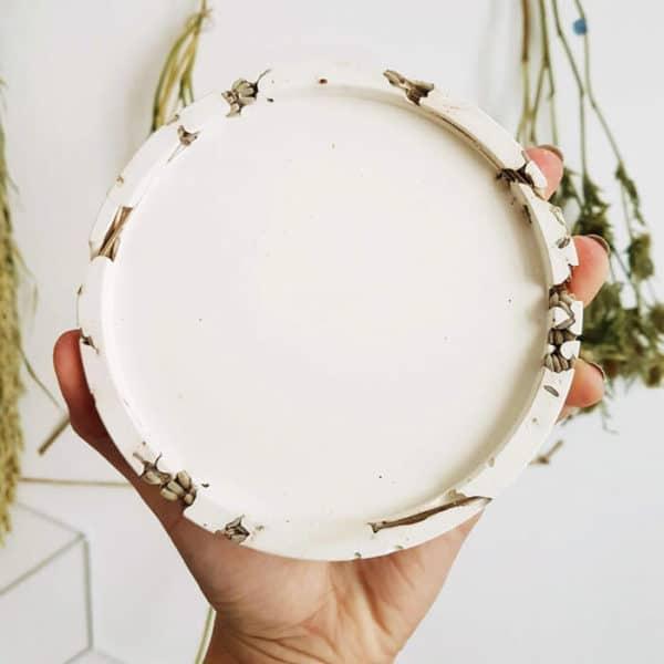 Support bougie floral Lavande XL - Accessoire bougie Paris (PONOIE)