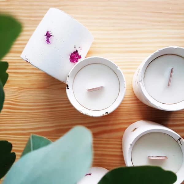 bougie meche bois parfumée fleurie aux parfums de grasse + Printemps à Kyoto - bougie vegan - atelier createur Paris