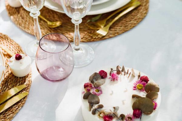 Bougie fleurie XXL 800 ml - DARLING - Bougie fleurie MARIAGE