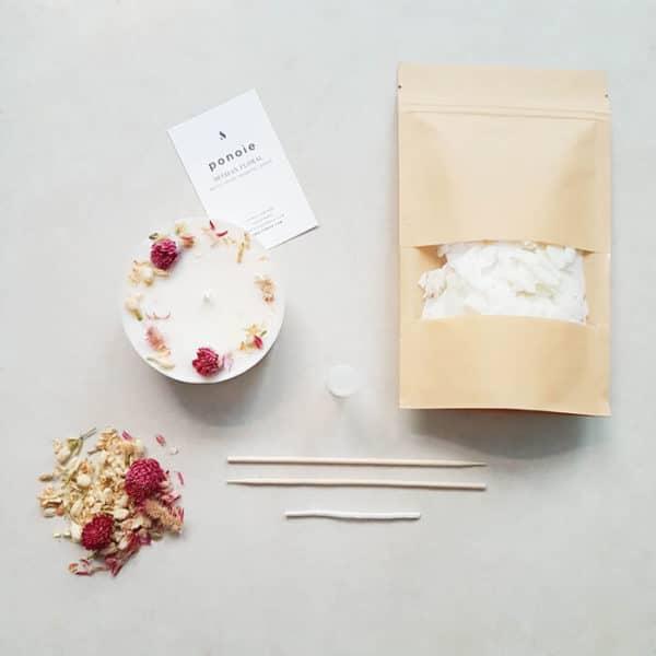 Kit bougie DIY : Printemps à Kyoto 200 ml - Kit bougie BIO