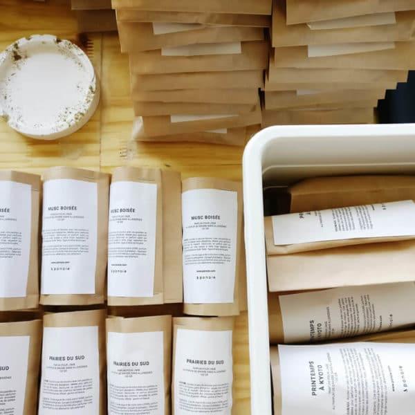 Pastilles parfumées bio Cèdre d'Atlas & Citron - Parfum solide pour linge