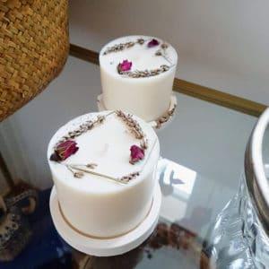 Bougie fleurie Rose de Damas 200 ml - Boutique bougie Paris