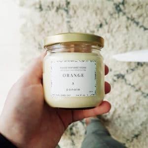 Bougie à l'huile essentielle d'Orange bio 200 ml - Bougie bio