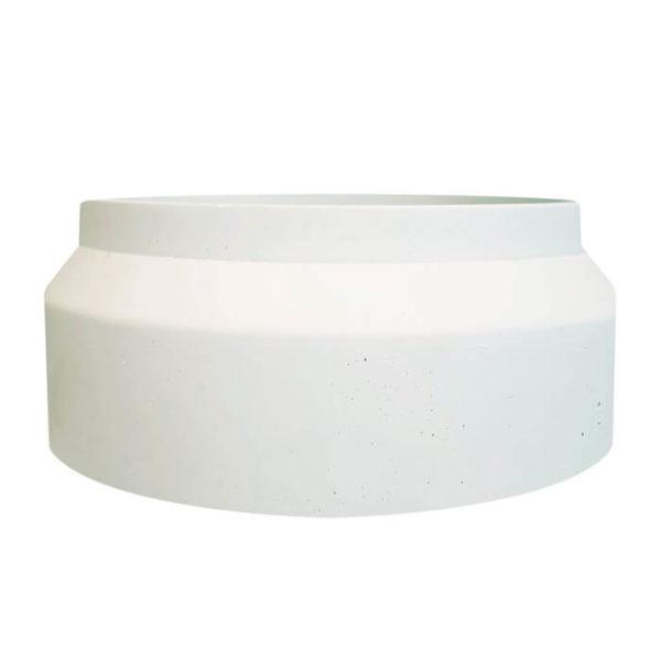 Pot en roche XXL Blanc - BOUGIE XXL végétale - Artisan Cirier Ponoie