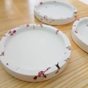 Support bougie floral Amarantoïde - Bougie fleurie 100% naturelle PONOIE