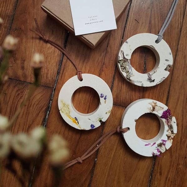 Diffuseur d'huiles essentielles fleuri Lavande & Agapanthe - Fleurs séchées
