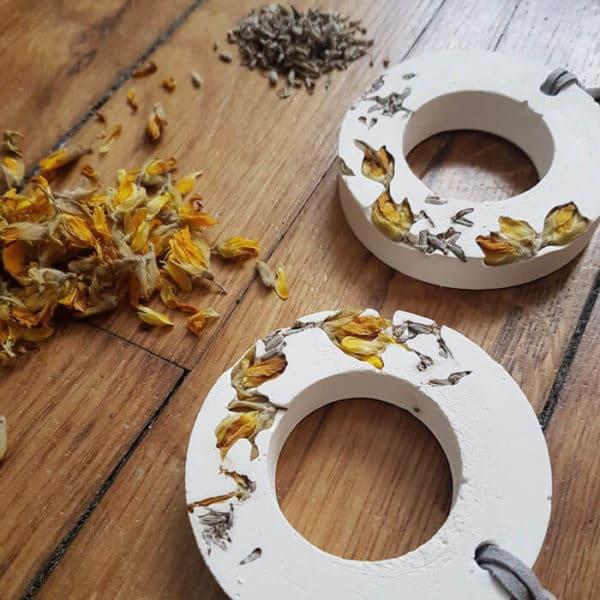 Diffuseur d'huiles essentielles fleuri Ulex & Lavande - Fleurs séchées
