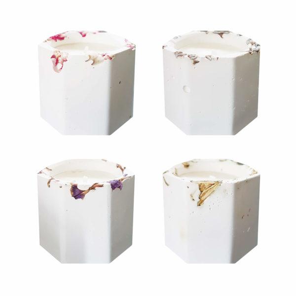 Petite bougie vegan en pot floral - Cadeaux invités mariage PARIS