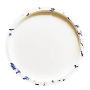 Grand support bougie floral Bleuet - Accessoire bougie fleurie Paris