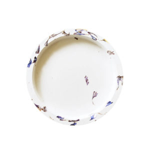 Support bougie floral Bleuet - Accessoire bougie Made In France